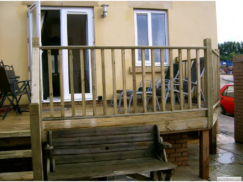 timber decking after